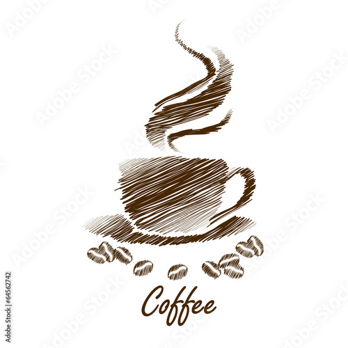 coffee cup hand drawn vector,illustration © 9comeback