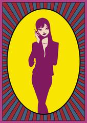 Femme en train de téléphoner
