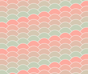Cotton candy vintage wave pattern