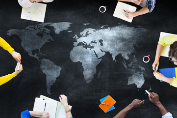 Group of Students Studying About Global Issues