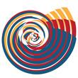 Постер, плакат: Spirale tricolore