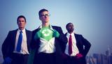 Fototapety Superhero Businessmen Fighting for The Environment