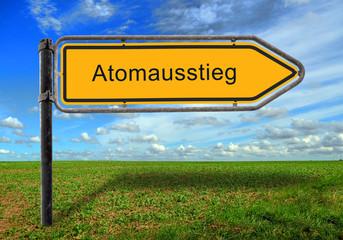 Strassenschild 17 - Atomausstieg
