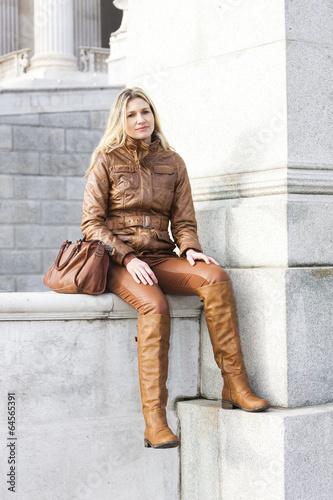 woman sitting in Vienna, Austria