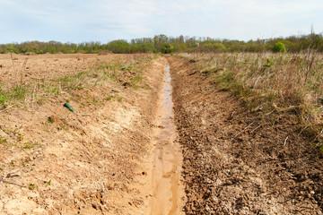 Fresh ditch.