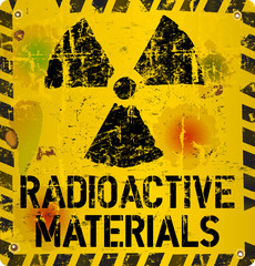 radioactive material warning, vector illustration