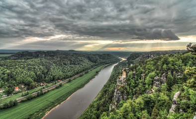 Elbe Sandstone Mountains HDR