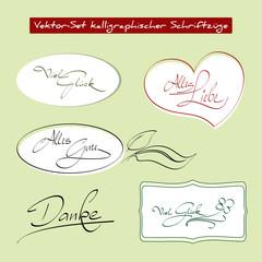 Kalligraphische Schriftzüge - Vektor
