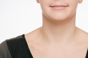 lächelnde Frau Detail