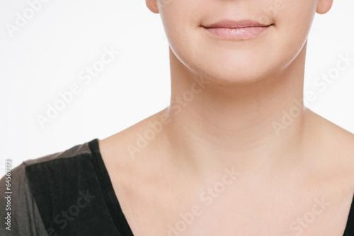canvas print picture lächelnde Frau Detail