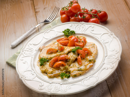 escalope with tomatoes