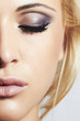 Beautiful eye of woman. beauty face of girl.make-up.mascara