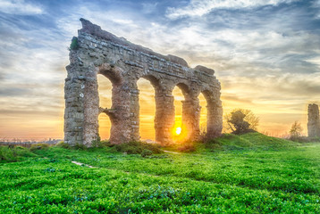Park of the Aqueducts at Sunset, Rome