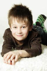 Cute smiling little boy, portrait