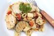 salade de pâtes et poulet