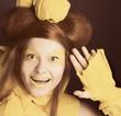 Girl in yellow.