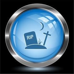 Rip. Internet button. Vector illustration.