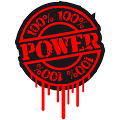 100 % Power Stempel Graffiti