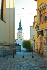 Trnava city April morning