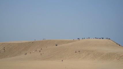 鳥取砂丘の観光客