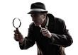 detective man criminals investigations  silhouettes