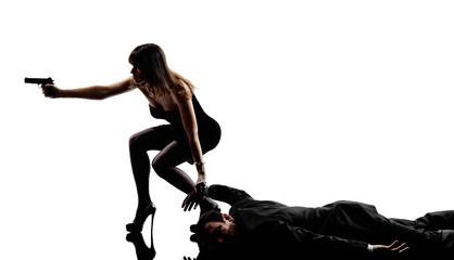 woman dead body  criminals investigations  silhouettes