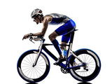 man triathlon iron man athlete cyclists bicycling