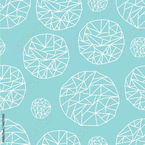 Mint geometric pattern.
