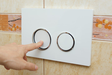 finger pushing button for  flushing toilet