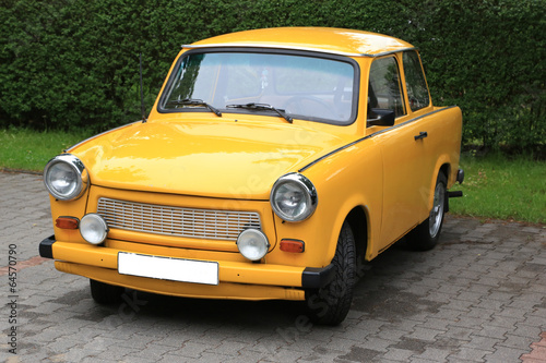 canvas print picture gelber Trabbi