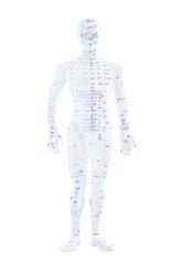 TCM Figur weiß Nerven