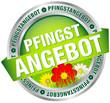 """Button Banner """"Pfingstangebot"""" grün/rot/silber"""
