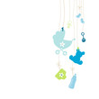 Hanging Baby Symbols Boy Background