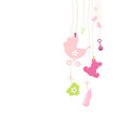 Hanging Baby Symbols Girl Background