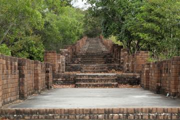 Path stone brick stairs