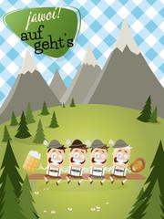 alpen bayern landschaft fest bier