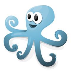 Cartoon vector octopus