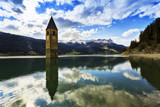 Campanile di Curon, Lago di Resia, Val Venosta