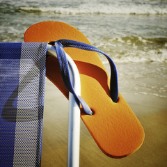 summer on the beach, with a retro effect