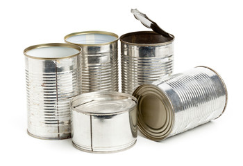 Used aluminum cans