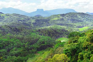 Mountains on island of Sri Lanka