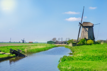 Traditional Dutch countryside