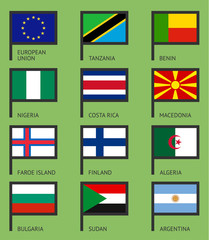 Flags flat set-03