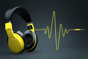 Wave impulse headphones concept.