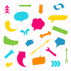 Vector Illustration of Arrows and Speech Balloons