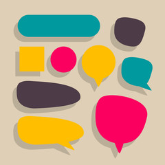 Vector Illustration of Various Speech Balloons