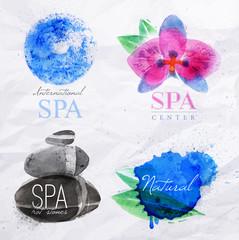 Symbols spa watercolor