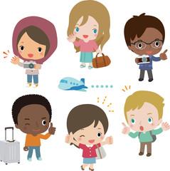 様々な国籍の観光客