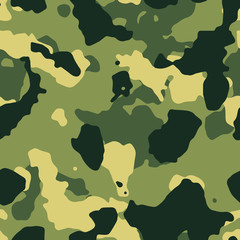 Green military camouflage seamless pattern vector