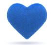 Blue puffy heart